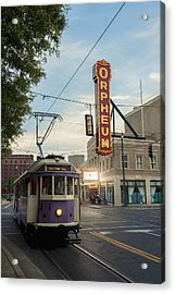 Usa, Tennessee, Vintage Streetcar Acrylic Print by Dosfotos