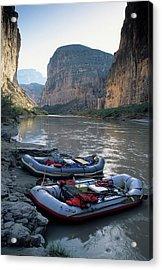 Usa, Texas, Rafting Boquillas Canyon Acrylic Print by Gerry Reynolds