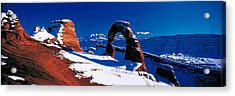 Usa, Utah, Delicate Arch, Winter Acrylic Print by Panoramic Images
