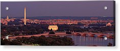 Usa, Washington Dc, Aerial, Night Acrylic Print by Panoramic Images
