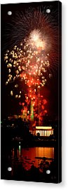 Usa, Washington Dc, Fireworks Acrylic Print by Panoramic Images