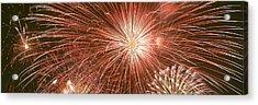 Usa, Wyoming, Jackson, Fireworks Acrylic Print