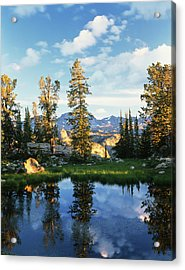 Usa, Wyoming, Landscape With Reflection Acrylic Print by Scott T. Smith