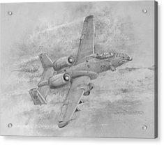 Usaf Fairchild-republic  A-10 Warthog Acrylic Print