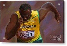 Usain Bolt 2012 Olympics Acrylic Print