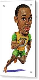 Usain Bolt Acrylic Print