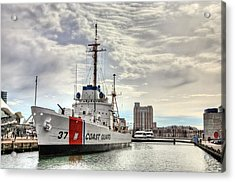 Uscg Cutter Taney Acrylic Print by JC Findley