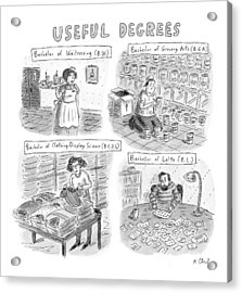 Useful Degrees: Bachelor Of Waitressing Acrylic Print