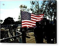 U.s.flag Acrylic Print by Terry Thomas
