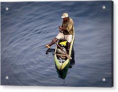 Using A Toe As A Fishing Pole. Acrylic Print