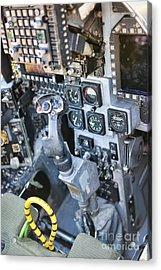 Usmc Av-8b Harrier Cockpit Acrylic Print by Olga Hamilton