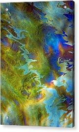 Uss Arizona Oil Leak Acrylic Print by Jim Nelson