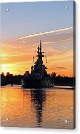Acrylic Print featuring the photograph Uss Battleship by Cynthia Guinn