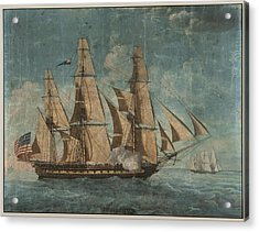 Acrylic Print featuring the painting Uss Constitution 1803 by Celestial Images