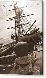 Uss Constitution Acrylic Print by Catherine Reusch Daley