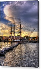 Uss Constitution Sunset - Boston Acrylic Print