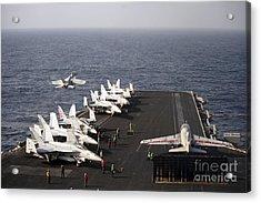 Uss Enterprise Conducts Flight Acrylic Print by Stocktrek Images
