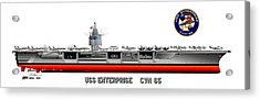 Uss Enterprise Cvn 65 1975- 1981 Acrylic Print by George Bieda