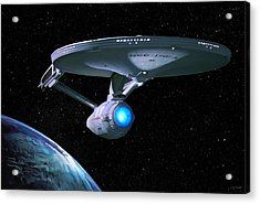 Uss Enterprise Acrylic Print by Paul Tagliamonte