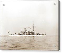 U.s.s. Indiana, Indiana Battleship, Battleships Acrylic Print