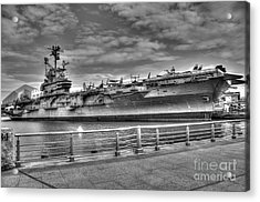 Uss Intrepid Acrylic Print by Anthony Sacco