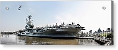 Uss Intrepid Sea-air-space Museum In New York City.  Acrylic Print