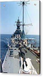Uss Iowa At Sea Acrylic Print