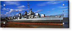 Uss Kidd Navy Ship At A Memorial, Uss Acrylic Print