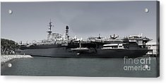 Uss Midway Acrylic Print by Russell Christie