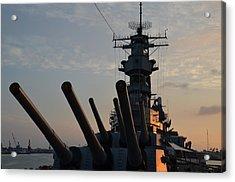 Uss Missouri Pearl Harbor Hi Acrylic Print by Cynthia Roudebush