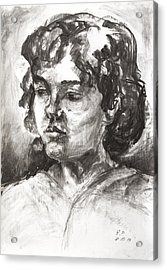 Uta With Short Hair Acrylic Print by Barbara Pommerenke