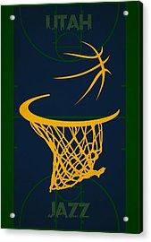 Utah Jazz Court Acrylic Print by Joe Hamilton