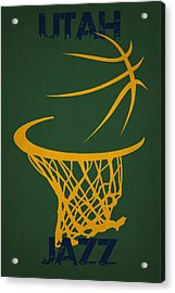 Utah Jazz Hoop Acrylic Print by Joe Hamilton