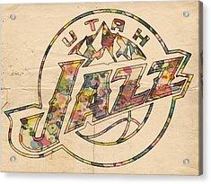 Utah Jazz Poster Art Acrylic Print