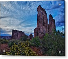 Acrylic Print featuring the photograph Utah Obelisk by Rob Wilson