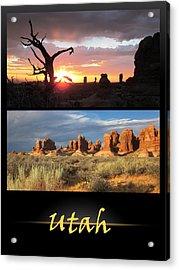 Utah Poster Acrylic Print