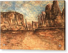 Utah Red Rocks - Landscape Art Painting Acrylic Print