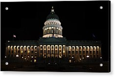 Utah State Capitol Front Acrylic Print