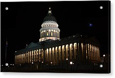 Acrylic Print featuring the photograph Utah State Capitol East by David Andersen