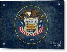 Utah State Flag Vintage Version Acrylic Print