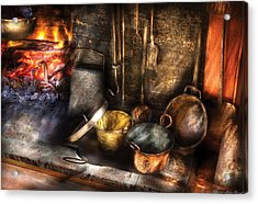 Utensils - Colonial Kitchen Acrylic Print by Mike Savad