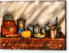 Utensils - Kitchen Still Life Acrylic Print by Mike Savad