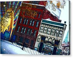 Utica In The Winter Acrylic Print by Stephanie Grooms