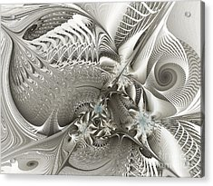 Utopia-fractal Art Acrylic Print by Karin Kuhlmann