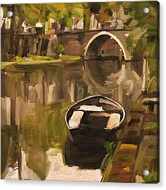Utrecht - Oude Gracht By Briex Acrylic Print by Nop Briex
