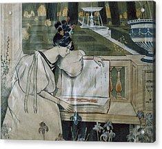 Utrillo, Miquel 1862-1934. Fulls De La Acrylic Print by Everett