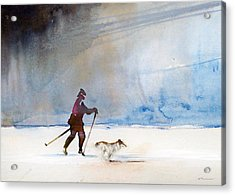 Acrylic Print featuring the painting Uvea And Da by Ed  Heaton
