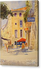 Acrylic Print featuring the painting Uzes France by Beatrice Cloake