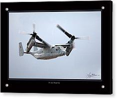 V-22 Osprey Acrylic Print by Larry McManus