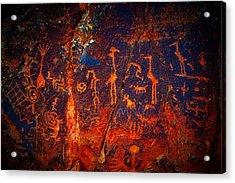 V-bar-v Petroglyphs Acrylic Print
